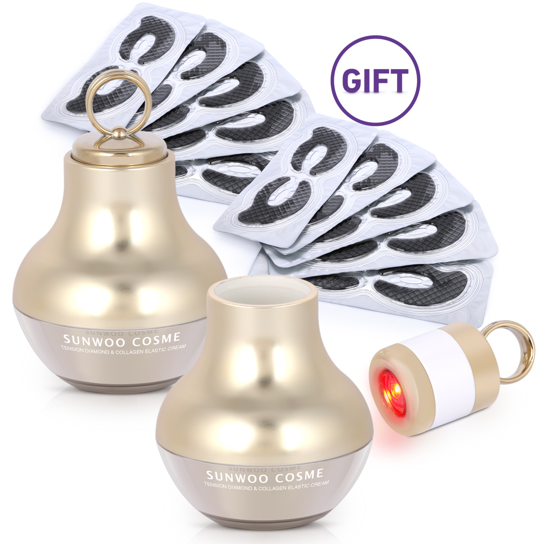 Diamond & Collagen LED Cream & Gifts