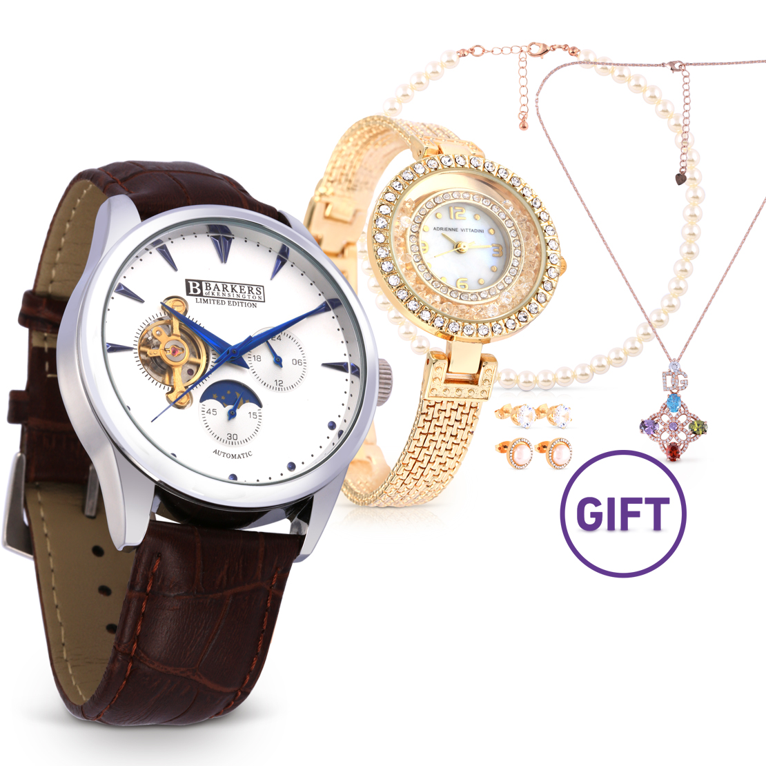 Blue Automatic Watch & Gifts