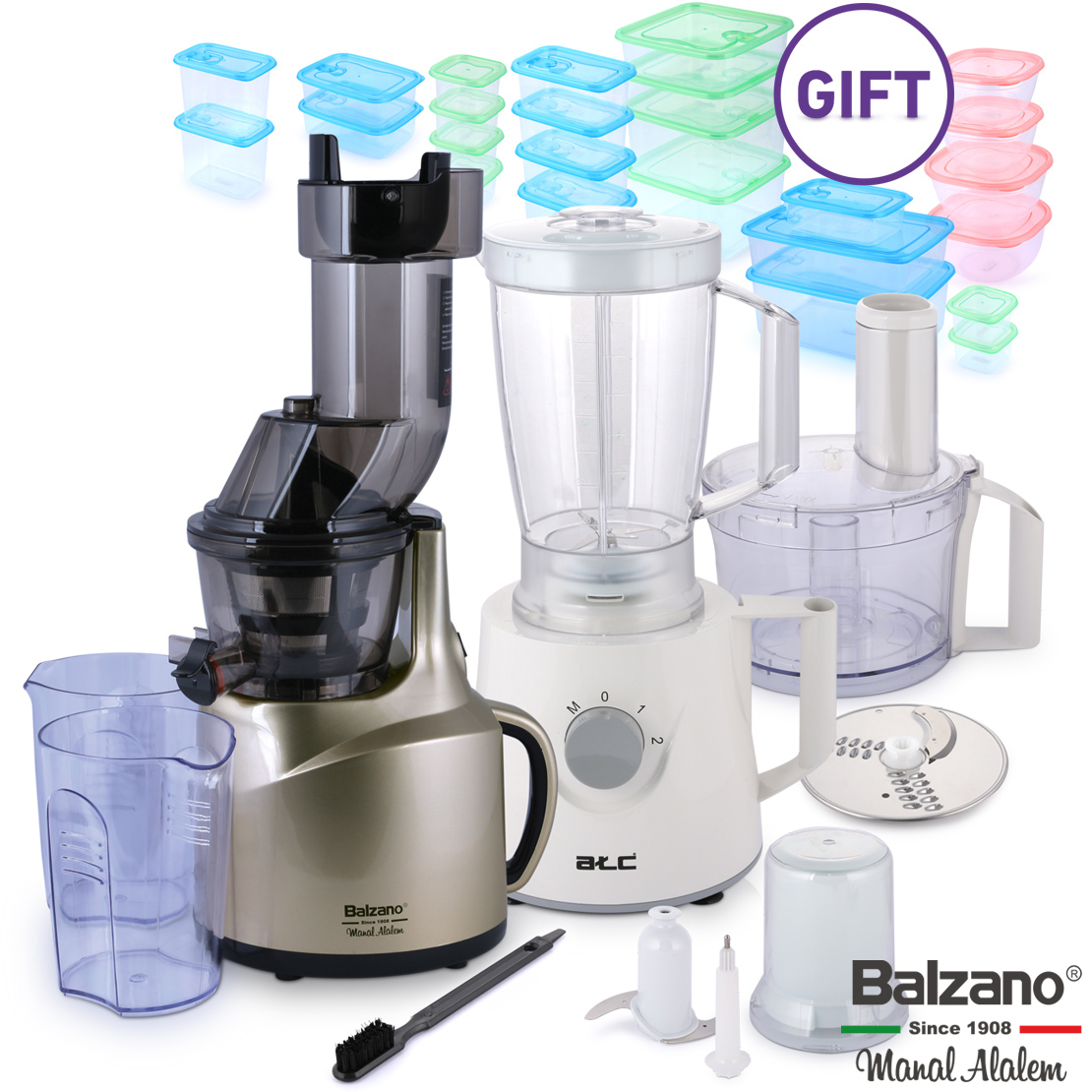 Whole Mouth Slow Juicer Gold & Gifts
