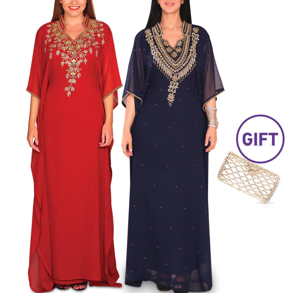 Thuraya Embellished Jalabiya Collection - Pack of 2 & Gift