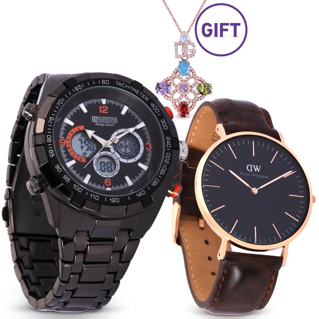 Mega Sport Black Watch & Gifts