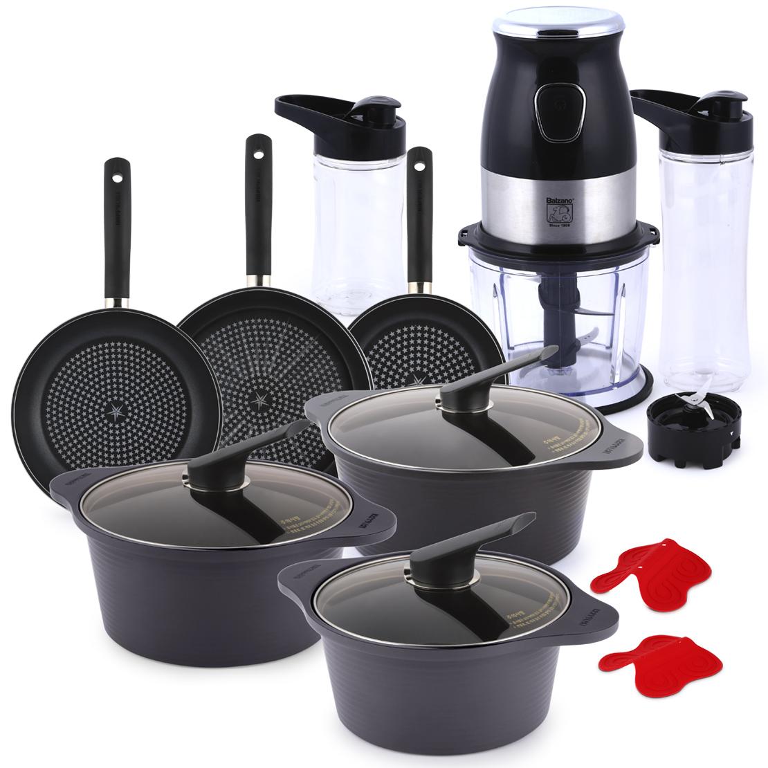 10 Piece Cookware Set & 3 in 1 Blender