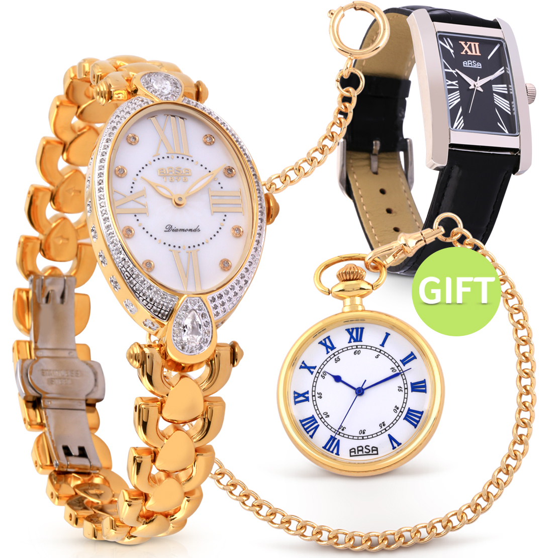 ARSA Diamond Wristwatch