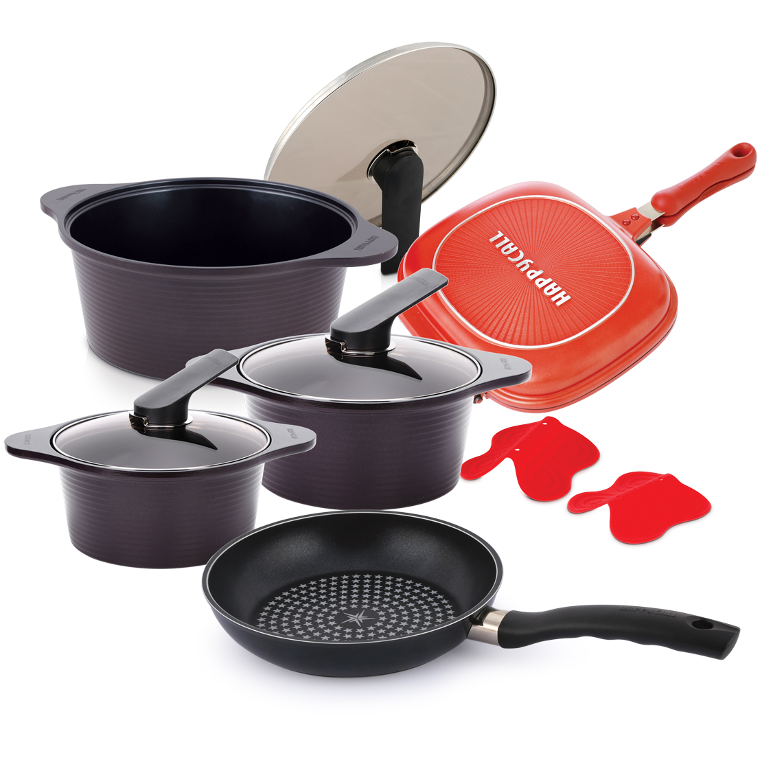 9 Pcs cookware set